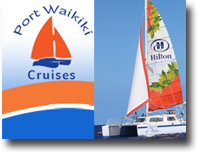 Port Waikiki Cruises - Catamaran at Hilton Hawaiian Village Beach Resort &