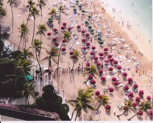 Arial Shot of Beach Area by Hilton Hawaiian Village Waikiki Beach Resort